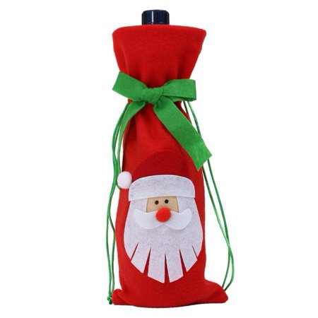 - Tie Bottle Sets Decor Santa Reindeer Tree Christmas Bottle Cover Christmas Party