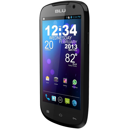 BLU Dash 4.0 D270a GSM Dual-SIM Android Cell Phone (Unlocked), Black