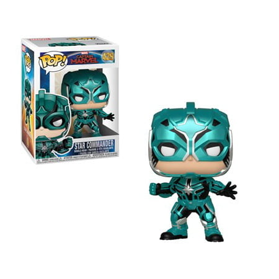 Funko POP! Marvel: Captain Marvel - Star Commander](Pop Stars As Kids)