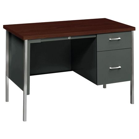 HON HON34002RNS Office Desk,45-1/4x29-1/2x24 In,Charcoal G3037207