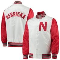 Nebraska Cornhuskers Starter The Legend Full-Snap Jacket - White/Scarlet