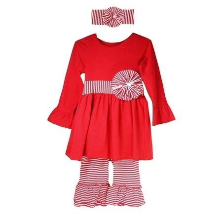 Dress Up Dreams Boutique - Little Girls Red White Boutique Striped Pants  Headband Outfit Set 12M-6 - Walmart.com bd1fe3687