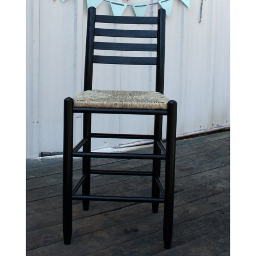 Dixie Seating 24 in. 4-Slat Steam Bent Ladder Back Counter Stool