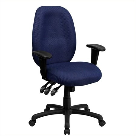 Scranton & Co High Back Multi-Functional Office Chair in Navy - image 2 of 2