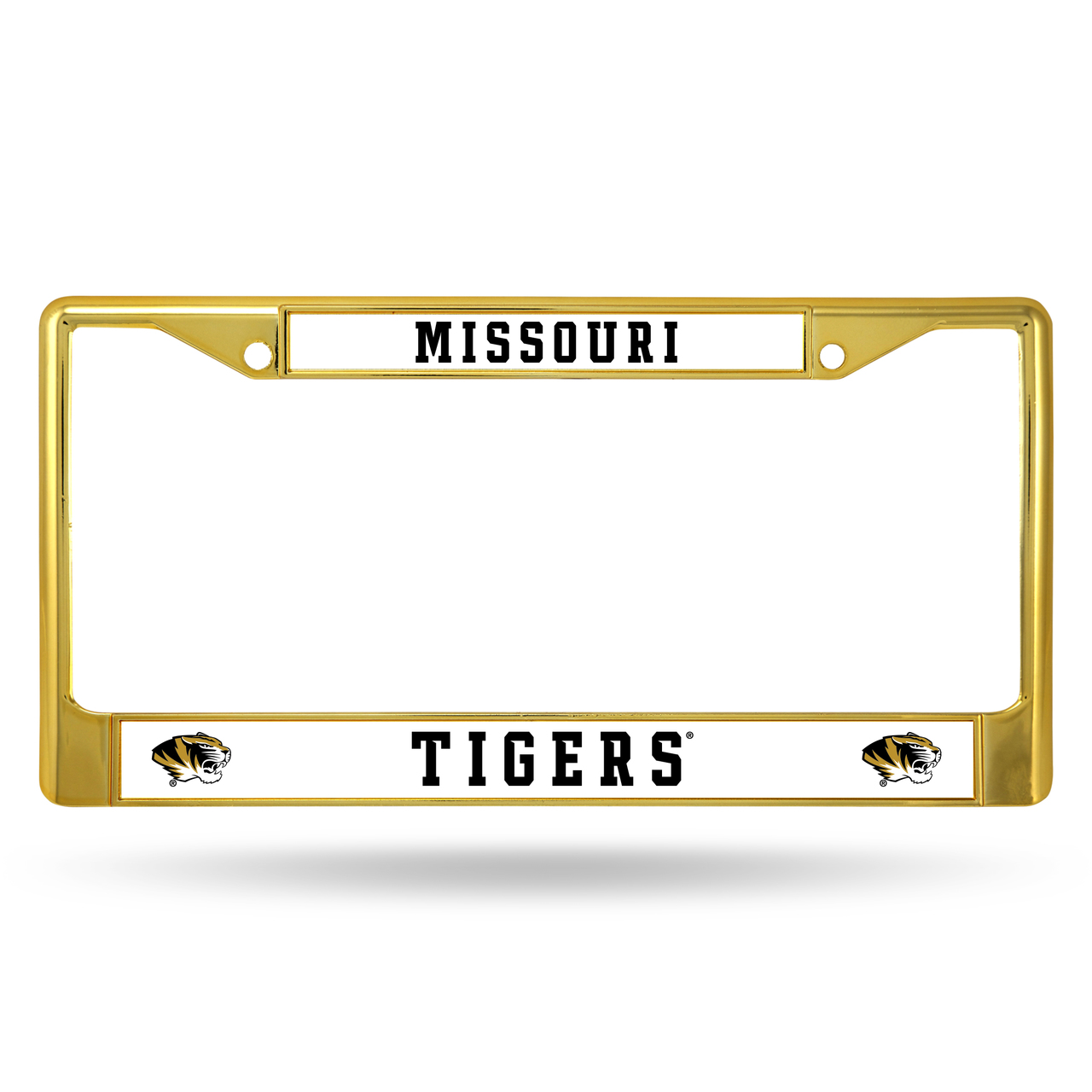 Missouri Tigers GOLD COLORED Chrome Frame - image 1 of 1
