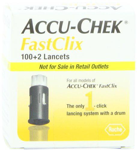 2 Pack Accu-Chek Fastclix Lancets 102 Count Each