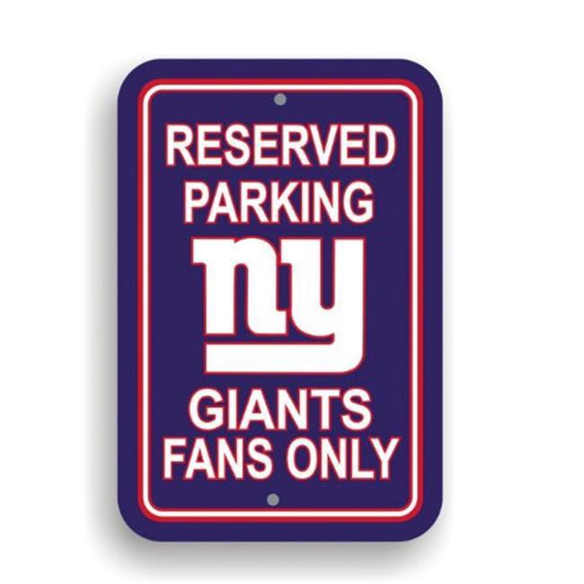Fremont Die 90275 Plastic Parking Sign - Reserved Parking - New York Giants