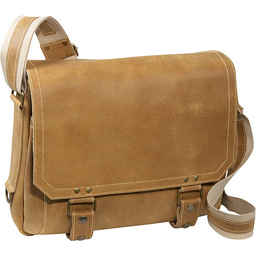 David King East West Distressed Messenger Bag
