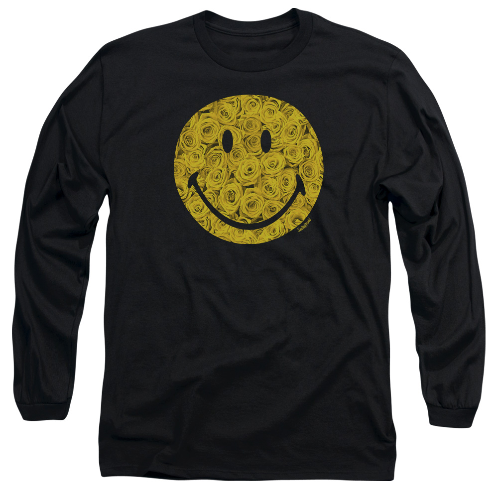 Smiley World Rosey Face Mens Long Sleeve Shirt