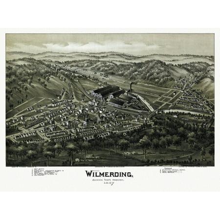 Antique Map Of Wilmerding Pennsylvania 1897 Allegheny County Canvas Art     36 X 54