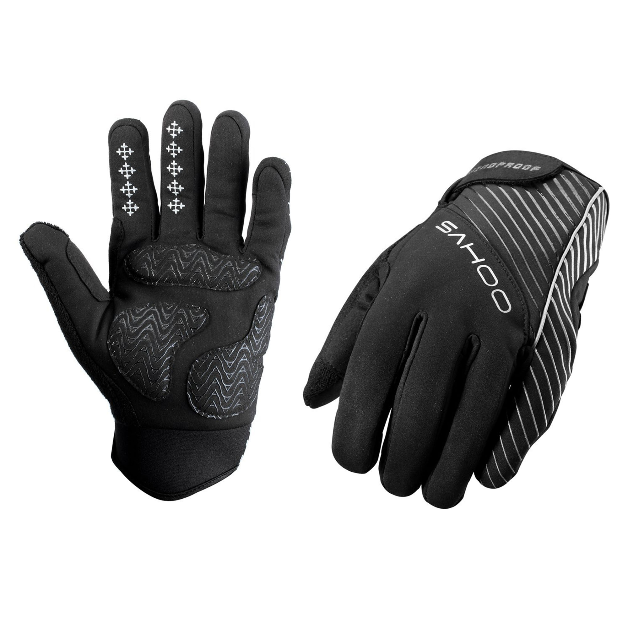 WEANAS Bike Bicycle Men Winter Full Finger Cycling Gloves, Windproof Warmth Attractive, for Outdoor, Riding (Black,... by Weanas