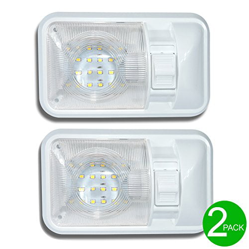 2pcs RV Ceiling Light Roof Lights 72 LED 12V Universal Light Strip with Self-adhesion Tape for Camper//Trailer//Motorhome//Boat HONGY Interior Lights Bar