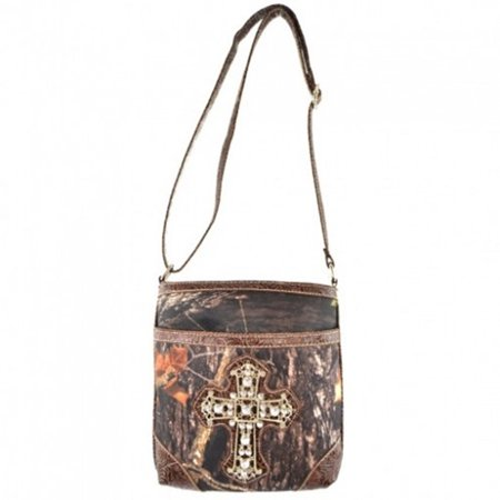 Western Camouflage Rhinestone Cross Womens Purse Cross Body Handbags Messenger