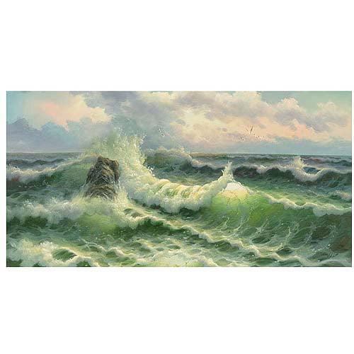 "Trademark Fine Art ""Waves II"" Canvas Art"