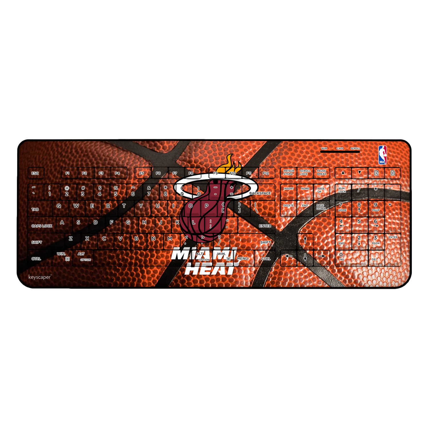 Miami Heat Wireless USB Keyboard NBA