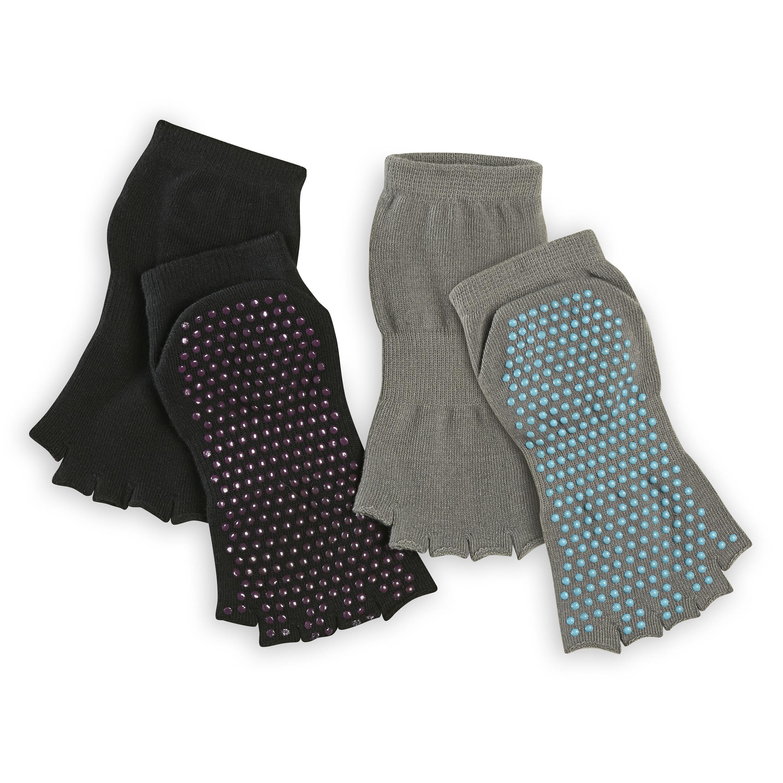 Toeless Yoga Socks, 2-Pack