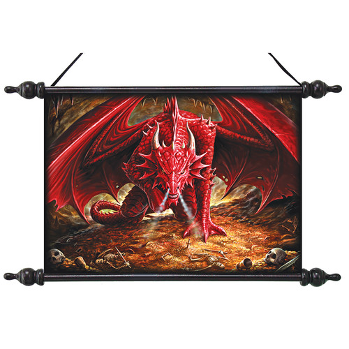 Design Toscano Dragons Lair Canvas by Anne Stokes Wall Scroll Tapestry