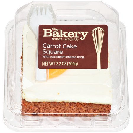 The Bakery At Walmart Square Carrot Cake 72 Oz