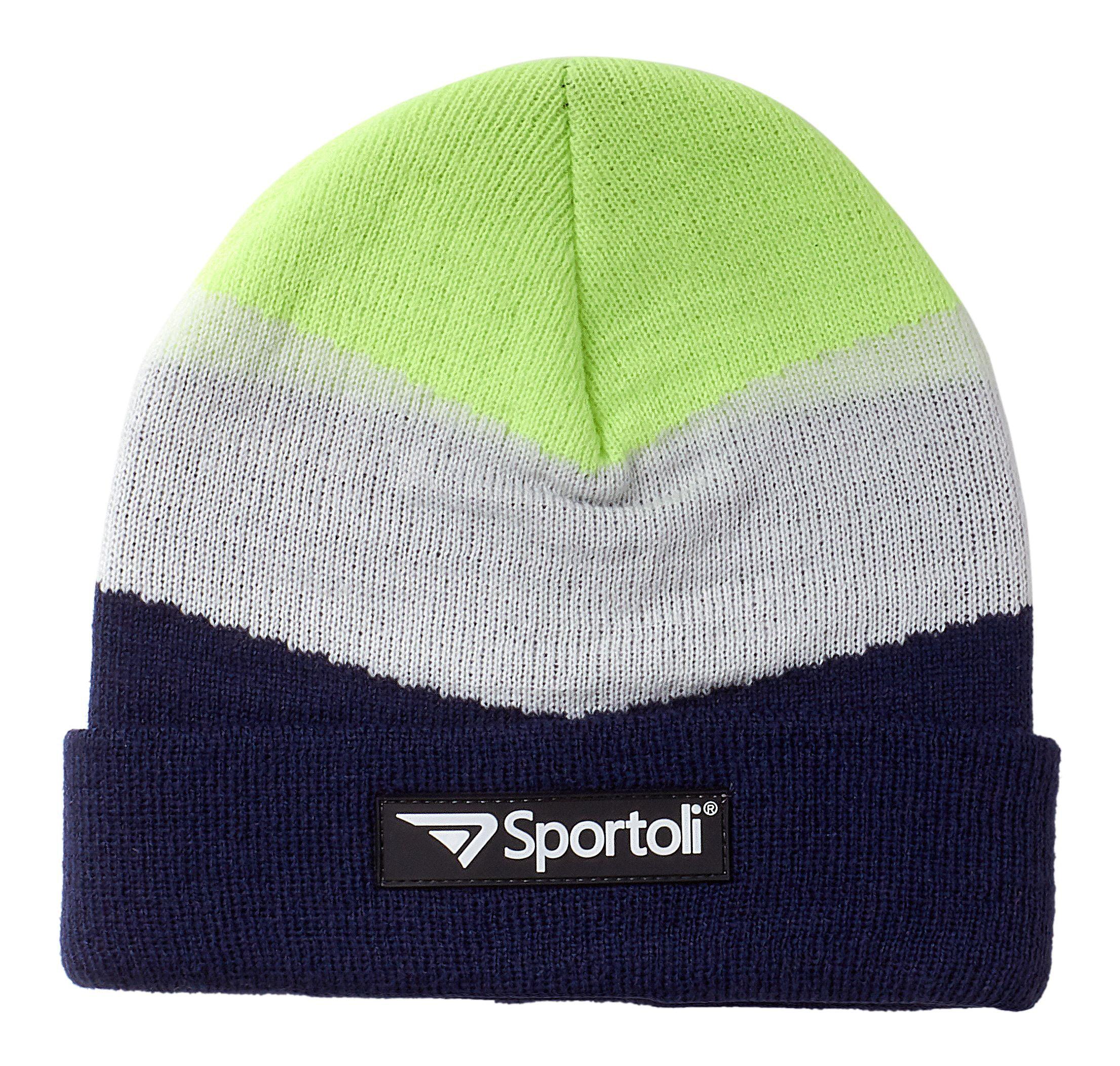 c13e04cb Sportoli - Sportoli Men's and Boys' Kids 3-Piece Chevron Jersey Knit Cold  Weather Accessory Set Warm Lined Pull On Hat Scarf and Gloves - Walmart.com