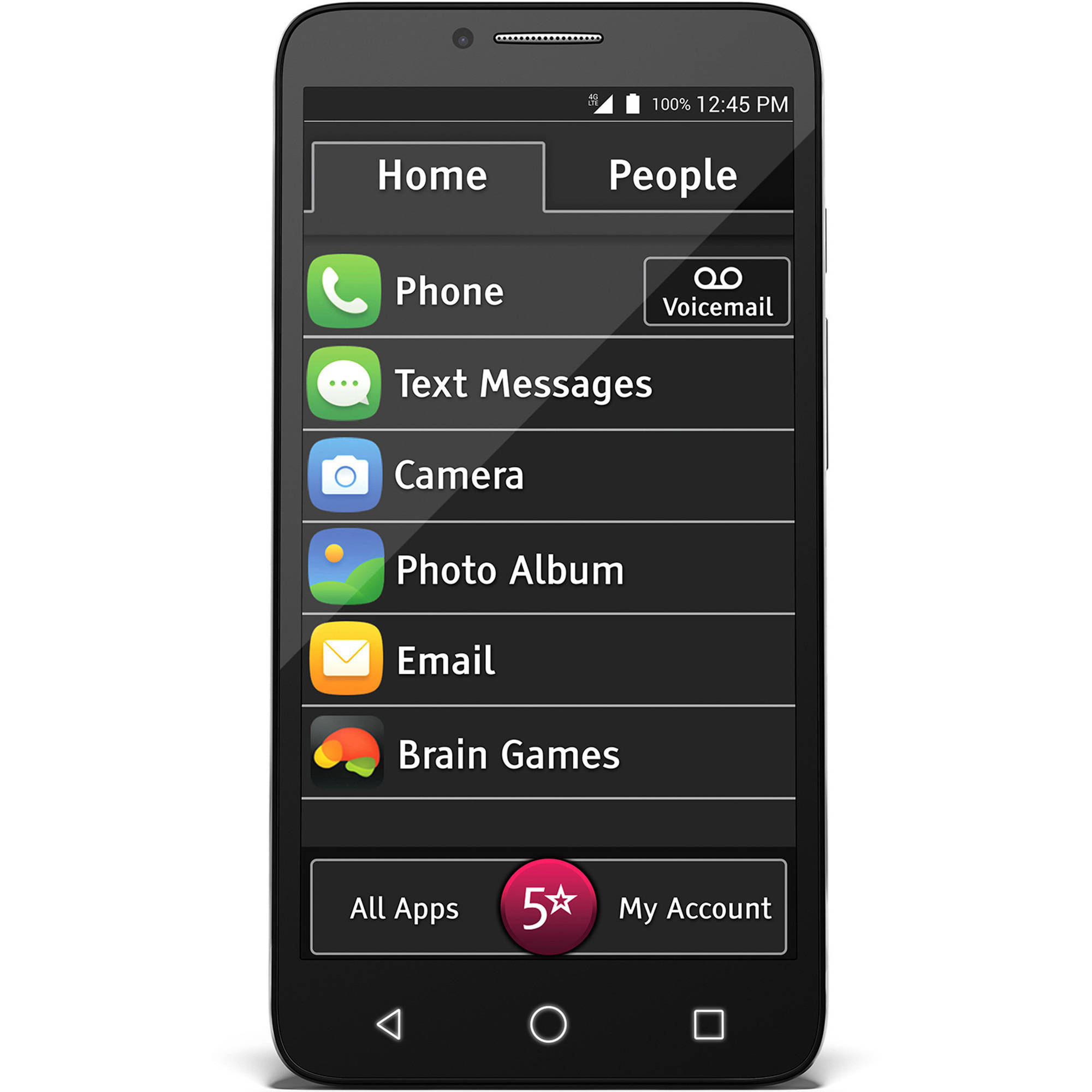 "GreatCall Jitterbug Smart Easy-to-Use 5.5"" Smartphone for Seniors"