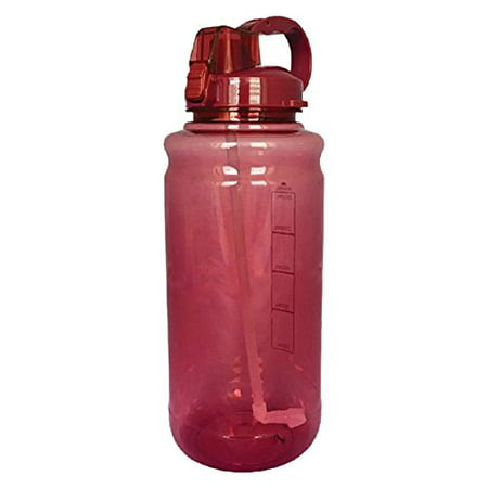 101oz Large Outdoor Water Bottle with Handle & Straw