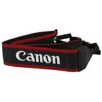 "Genuine Original OEM Canon Red 1"" Width Neck Strap for Canon EOS and EOS Rebel Series DSLR Cameras"