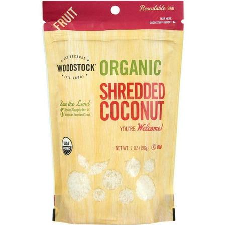 Raw Coconut (Woodstock Fruit - Organic - Coconut - Shredded - Raw - 7 oz - case of 8 )