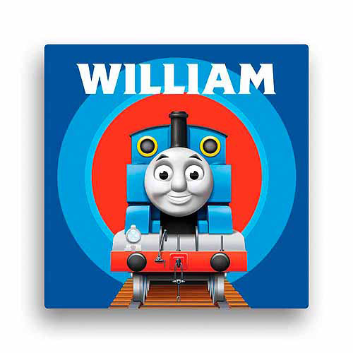 "Personalized Thomas and Friends Close-Up 16"" x 16"" Canvas Wall Art"