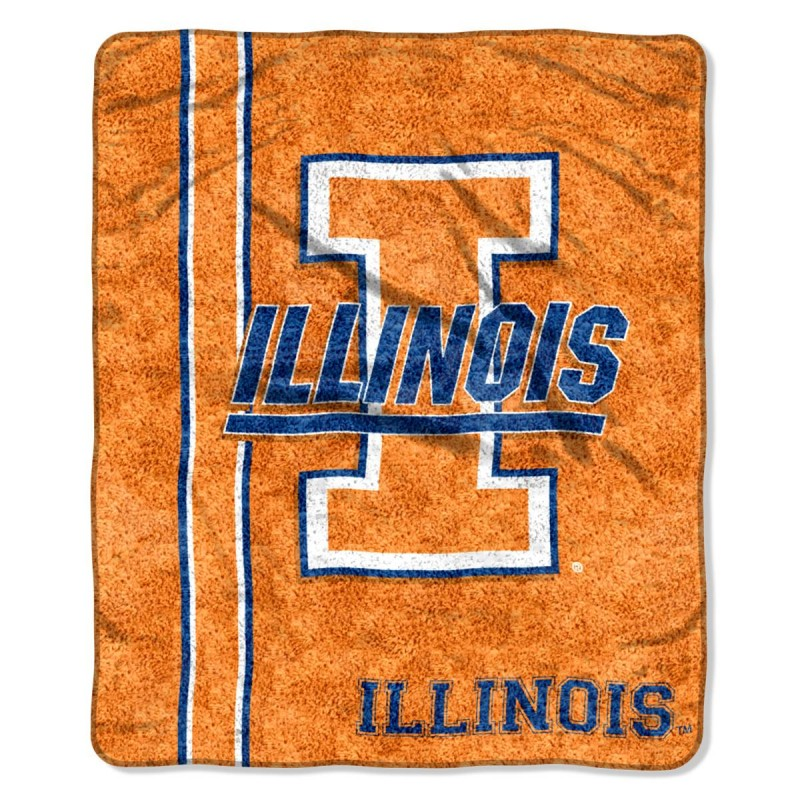 "NCAA Illinois Fighting Illini ""Jersey"" 50"" x 60"" Sherpa Throw"