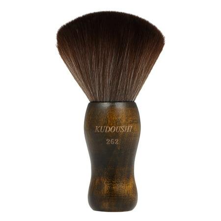 KUDOUSHI Largr Hair Cutting Neck Duster Brush Professional Barber Natural Fiber Wooden Handle Cutting Kits Salon Hair Removal Brush Broken Hairbrush ()