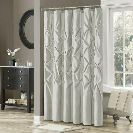Home Essence Piedmont Tufted Faux Silk Shower Curtain