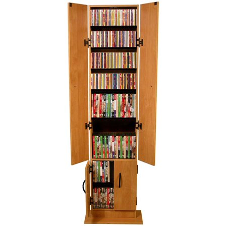 Venture Horizon Promo 68″ CD DVD Media Storage Cabinet-Dark Walnut