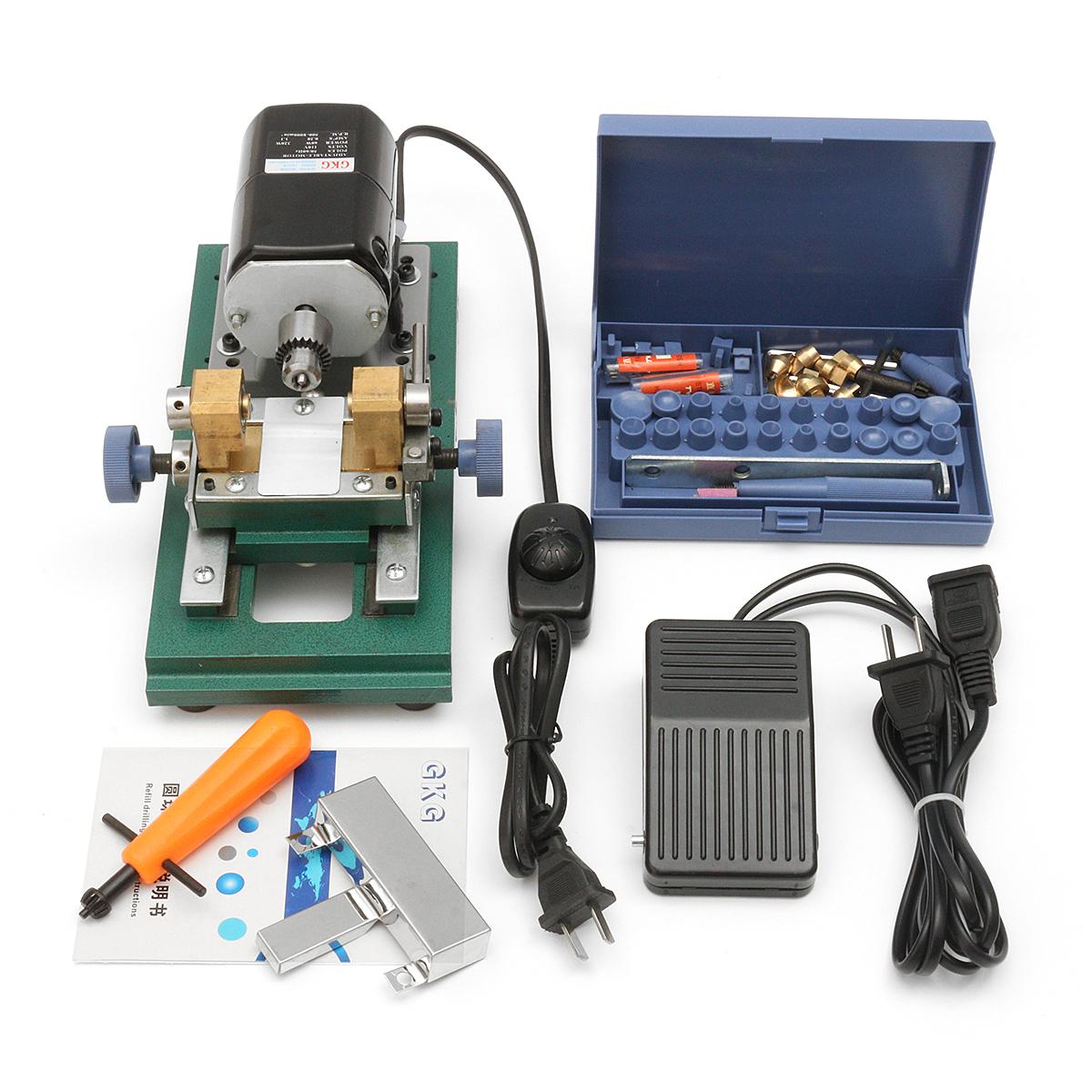 110V 220W/110V 240W / 220V 280W Pearl Drilling Holing Machine Driller Drilling Punch Tools Full Set
