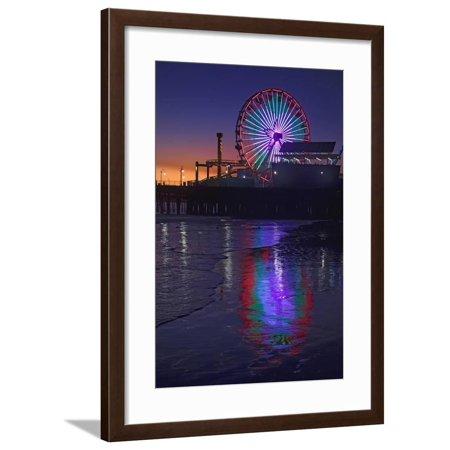 USA, California, Santa Monica. Ferris wheel and Santa Monica Pier at sunset. Framed Print Wall Art By Jaynes Gallery](Ferris Wheel Centerpiece)