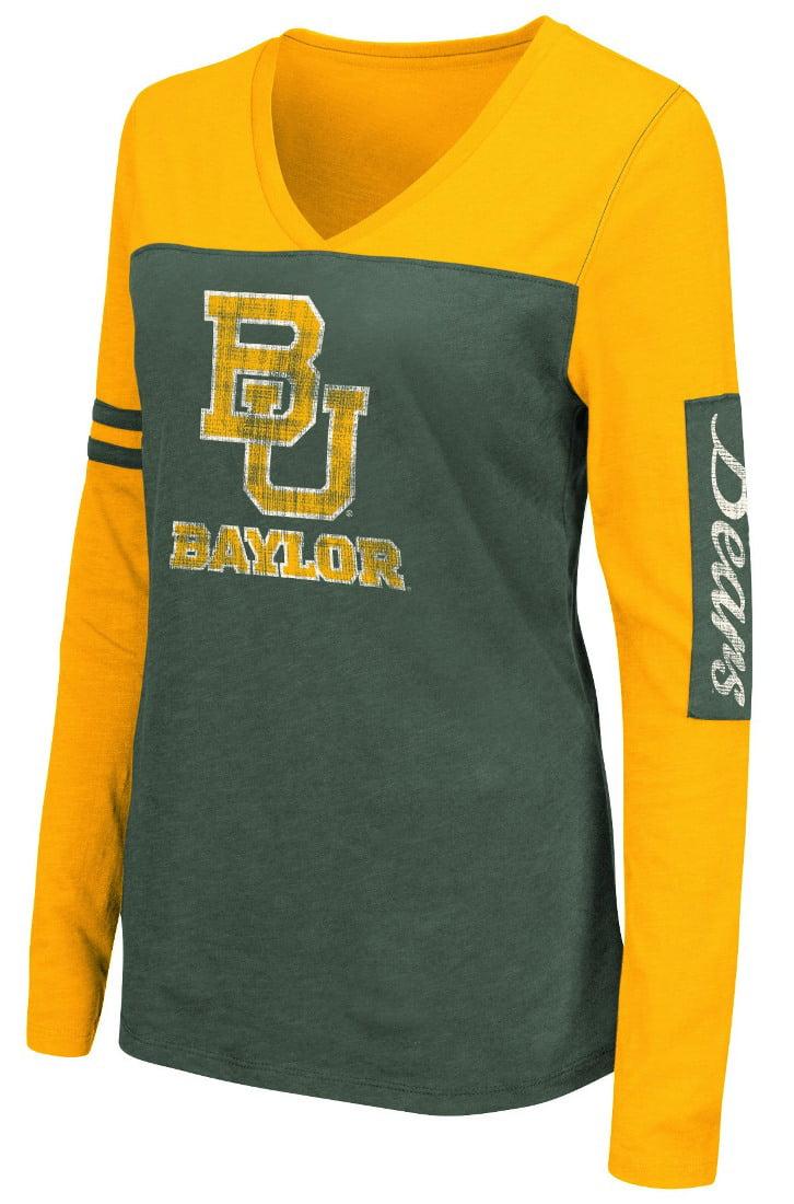 "Baylor Bears Women's NCAA ""Whatevs"" Long Sleeve V-Neck T-Shirt by Colosseum"
