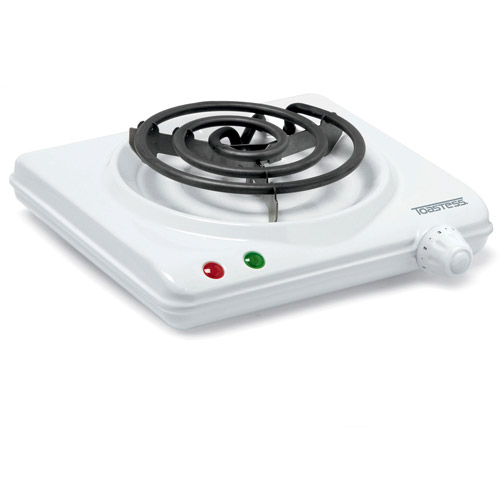 Toastess Cooking Range with Single Coil Element, White