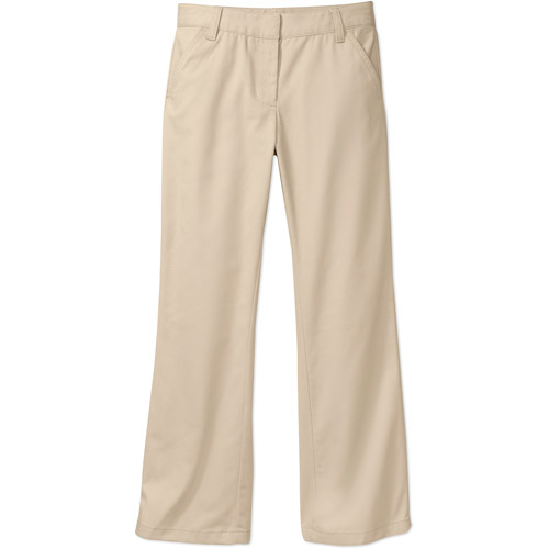 George Girls School Uniforms Flat Front Pants with Stain Resistant Scotchguard Treatment