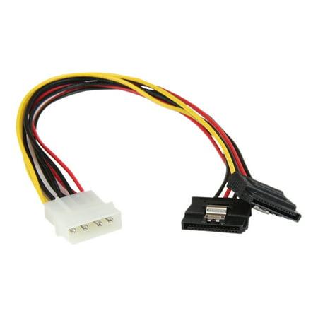 Startech Pyo2lp4lsata Startech Com 12In Lp4 To 2X Latching Sata Power Y Cable Splitter Adapter   4 Pin Molex To Dual Sata
