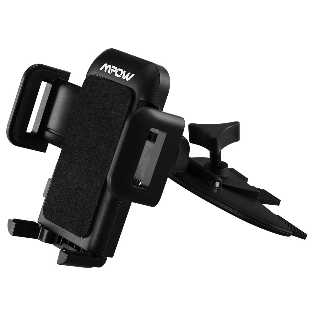 Mpow Grip Pro 2 Universal CD Slot Car Mount Holder for iPhone,Samsung Galaxy and Other Cellphones,with Just A Push, 360 Degree Rotation (Black)