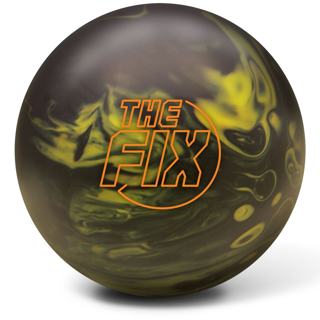 Radical The Fix Bowling Ball- Black Yellow Solid (14lbs) by Radical Bowling Products