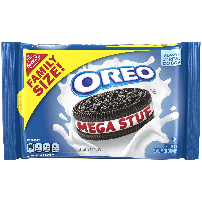 Oreo Mega Stuf Cookies, 17.6 oz