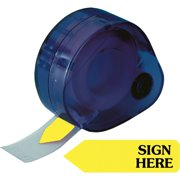 Redi-Tag, RTG81014, Sign Here Removable Flags In Dispenser, 120 / Pack, Yellow