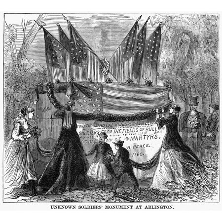 Memorial Day 1868 Nmourners Gathered At The Unknown Soldiers Monument In Arlington Cemetery Virginia Marking The Graves Of 2111 Union Army Soldiers Whose Remains Could Not Be Identified During The Fir