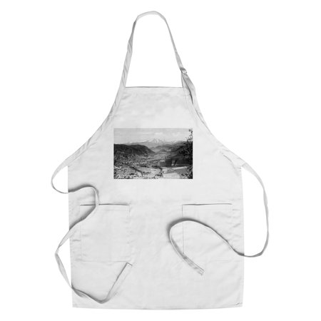 New Fork Short Spring (Glenwood Springs, Colorado - Traver Ranch View; Roaring Fork River Valley Photograph (Cotton/Polyester Chef's Apron) )