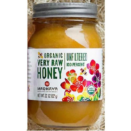 Madhava Organic Unfiltered Very Raw Honey 22 oz. Jar