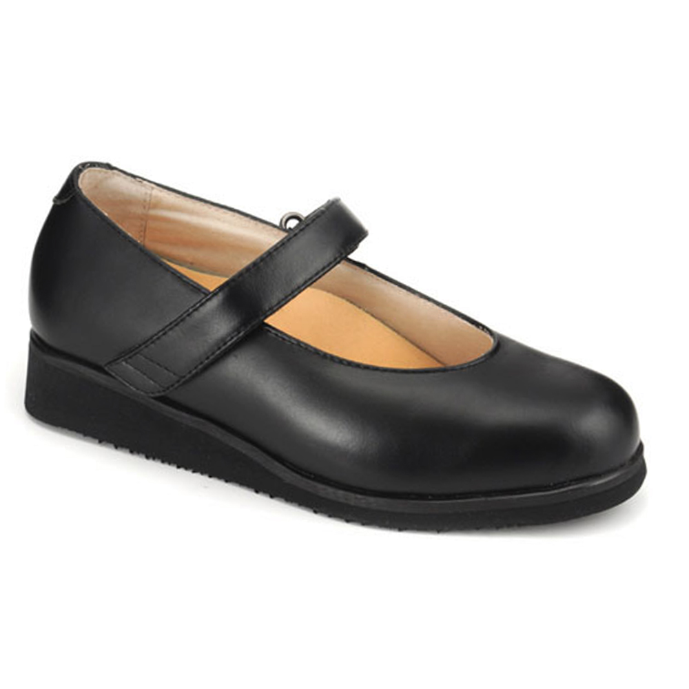 Apis Mt. Emey 9202 Women's Mary Jane Shoe: 9.5 Wide (D) Black Velcro