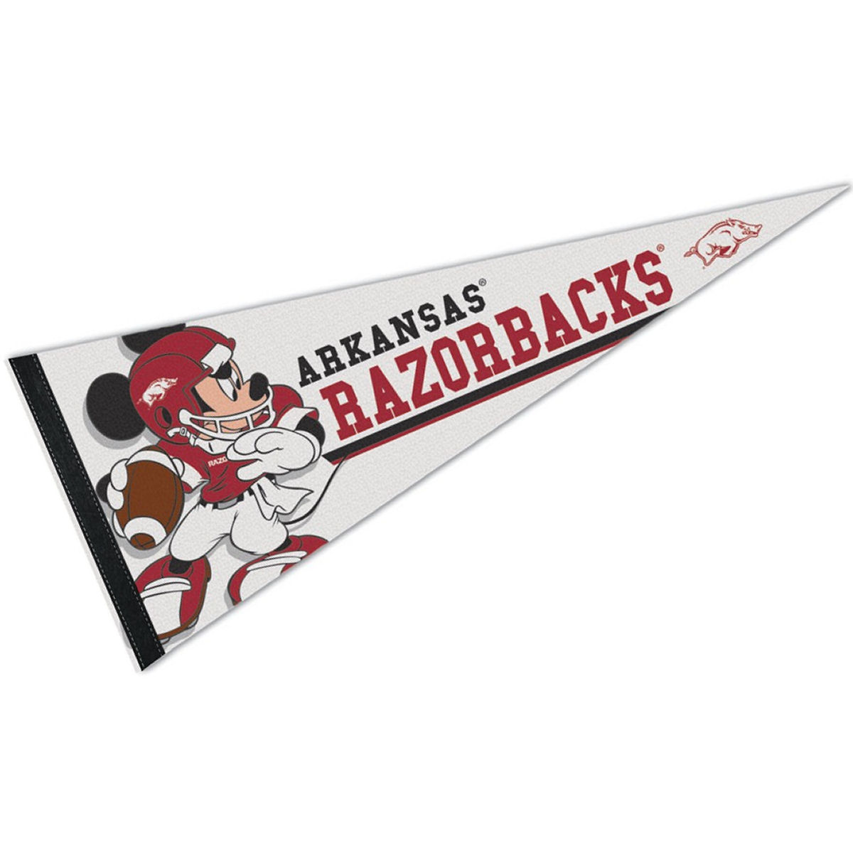 Arkansas Razorbacks Disney Mickey Mouse Pennant