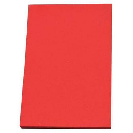 CLARK FOAM 1001330R Kitting Sheet,Polyethylene,Red,3/8 in. -