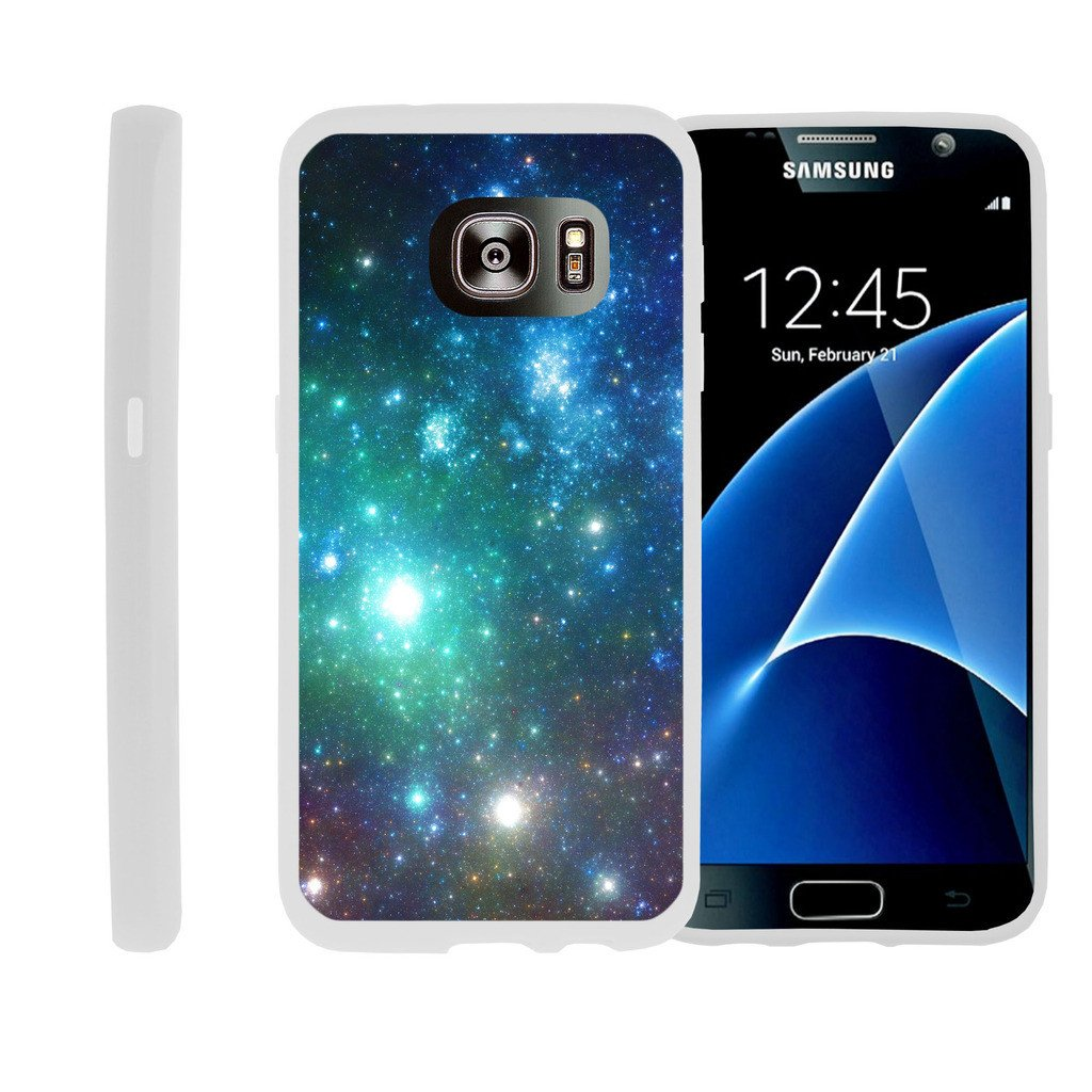Flexible Case for Samsung Galaxy S6 Edge | SM-G925 Case [ Flex Force ] Lightweight Flexible Phone Case - Blue Green Galaxy