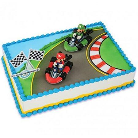 Mario Kart Wii Cake Topper (4 - Mario Cake Topper